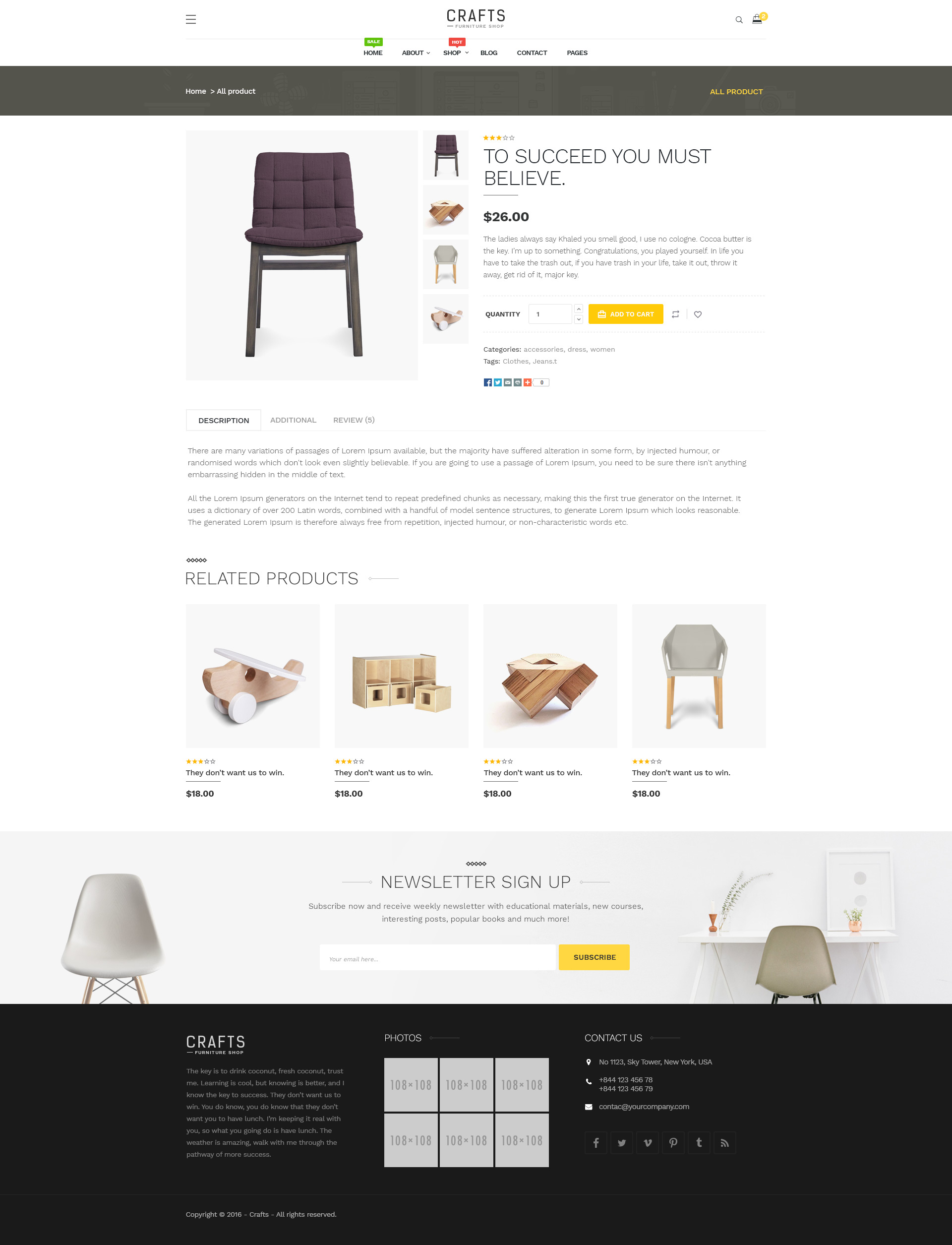 Craft Furniture Shopify Theme By Juno Themes Themeforest
