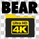 4K Bear Silhouettes - 5 Pack - VideoHive Item for Sale
