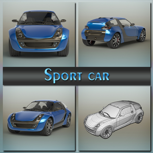 Sport car - 3DOcean Item for Sale