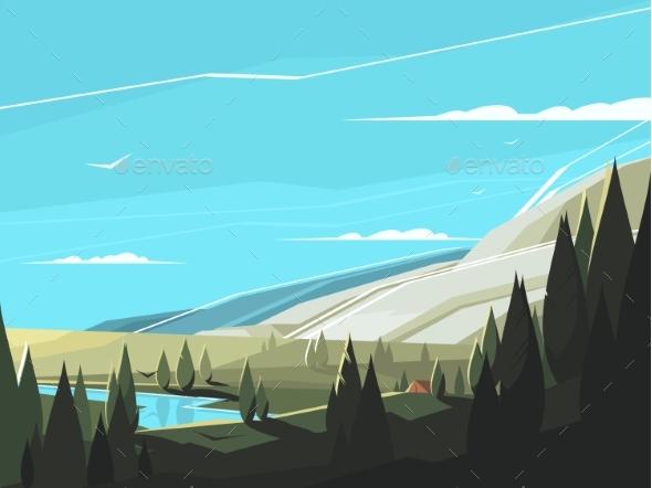 Forest Natural Landscape - Landscapes Nature