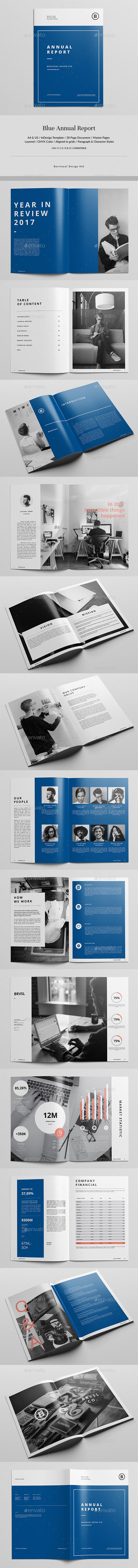 Blue Report Template - Corporate Brochures