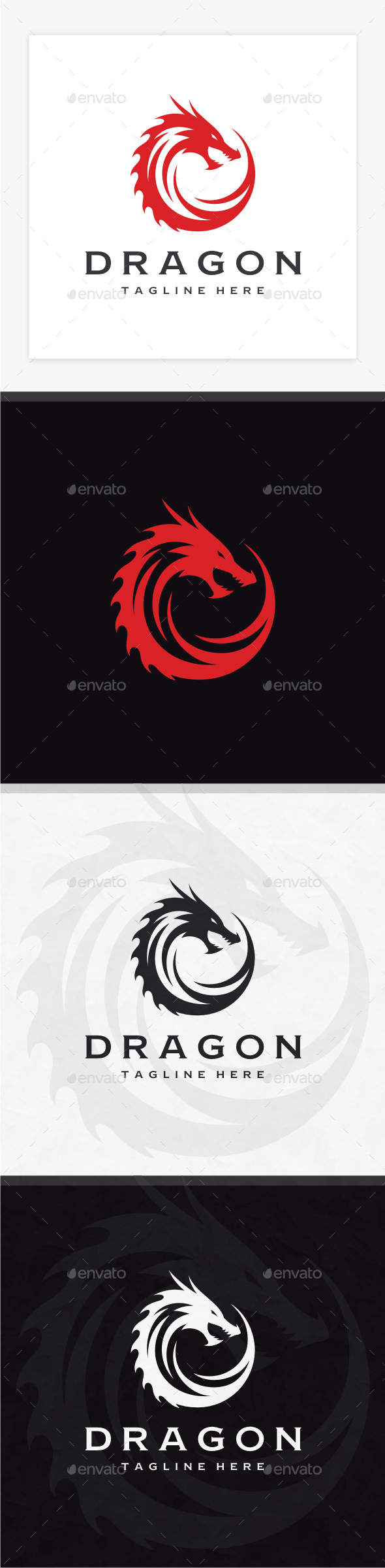 Dragon Logo - Animals Logo Templates