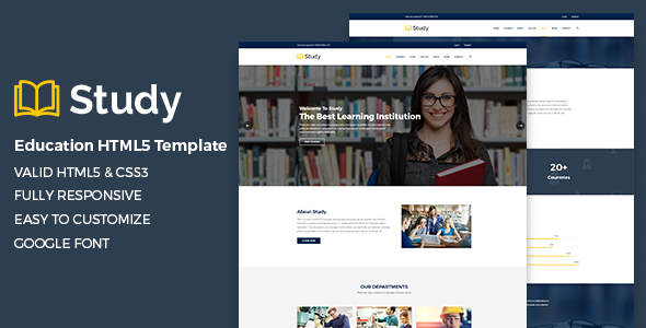 Study – Education HTML5 Template - Nonprofit Site Templates
