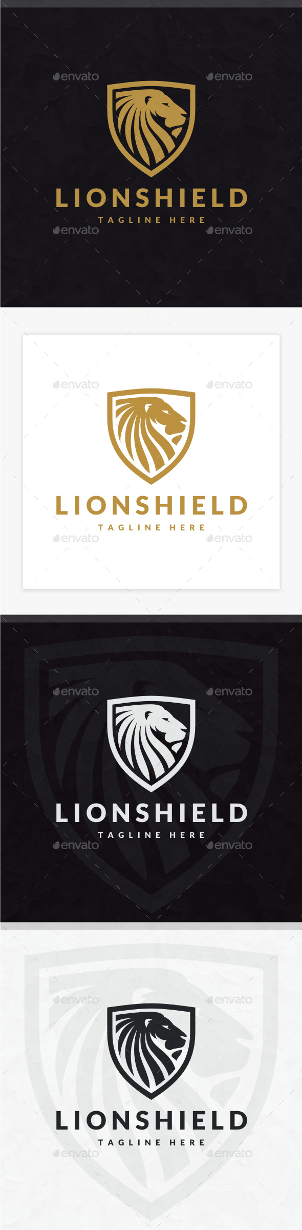 Lion Shield Logo - Animals Logo Templates