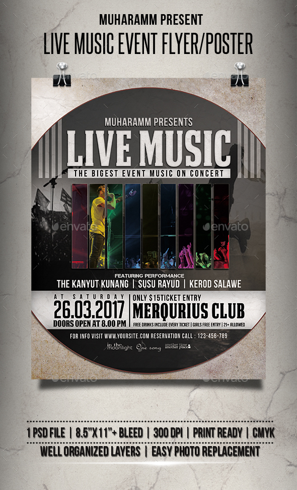 Live Music Event Flyer / Poster - Events Flyers