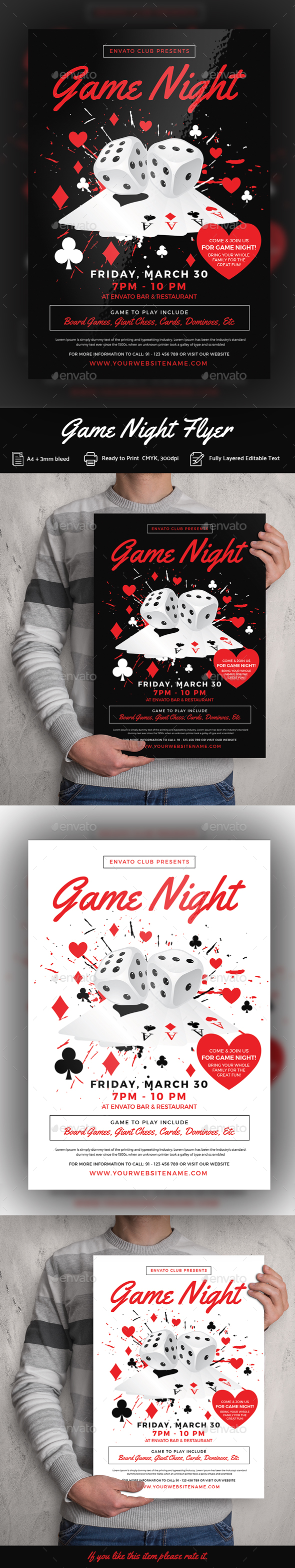 Game Night Flyer Template - Events Flyers