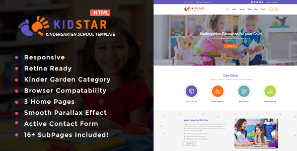 Image of Kidstar - Kindergarten & School HTML Template