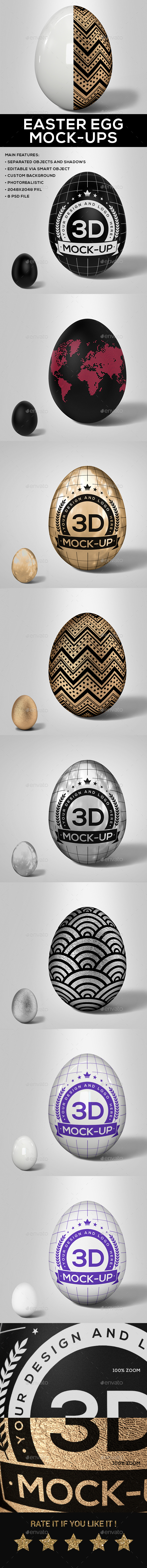 Easter Egg Mock-Up V.2 - Miscellaneous Print
