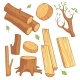 Cartoon Wooden Materials - GraphicRiver Item for Sale