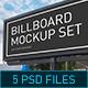 Modern Billboard Mock-up Set - GraphicRiver Item for Sale