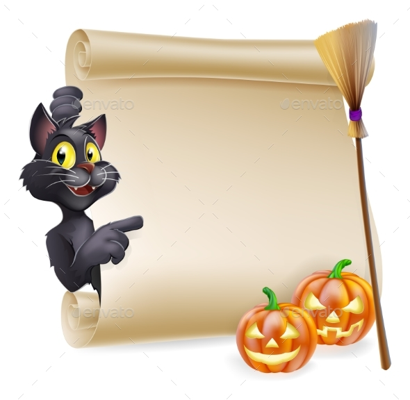 Halloween Scroll Sign - Miscellaneous Vectors