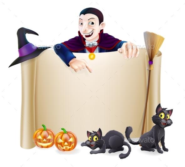 Halloween Dracula Banner - Miscellaneous Seasons/Holidays