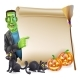 Halloween Scroll with Frankenstein