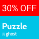 Puzzle - Responsive Ghost Blog Theme
