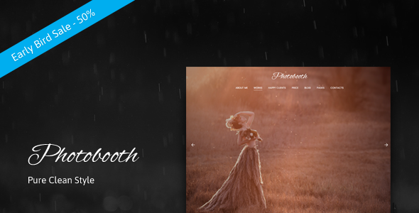 Photobooth – Clean Photo and Portfolio WordPress Theme