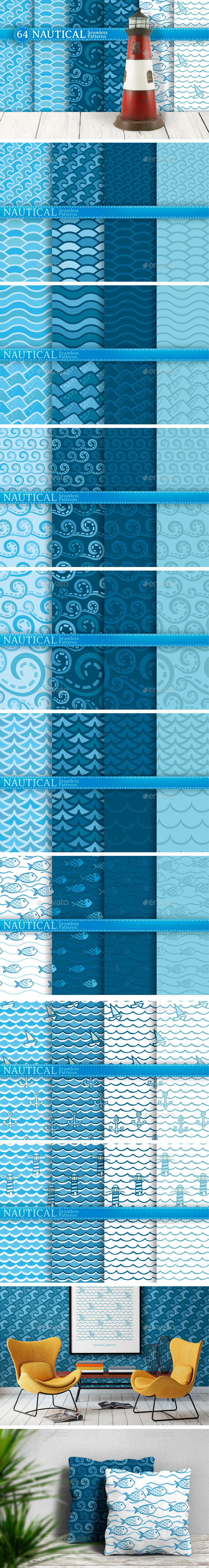 Nautical Seamless Patterns - Patterns Decorative