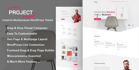 Project – Creative Multipurpose WordPress Theme