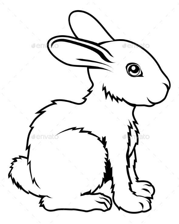 Stylized Rabbit Illustration - Animals Characters