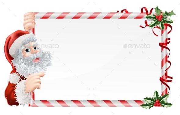 Christmas Santa Claus Sign - Christmas Seasons/Holidays