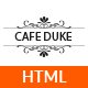 Cafe-Duke - Restaurant HTML5 Template - ThemeForest Item for Sale