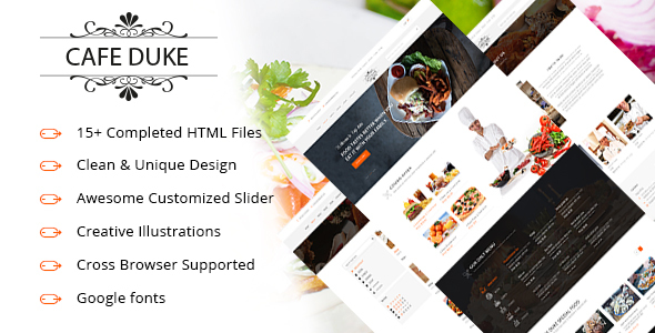 Image of Cafe-Duke - Restaurant HTML5 Template