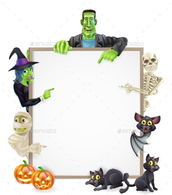 Halloween Sign Background - Miscellaneous Vectors