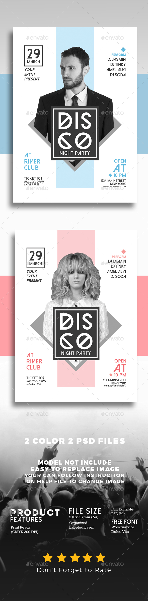 Minimal DJ Flyer - Events Flyers