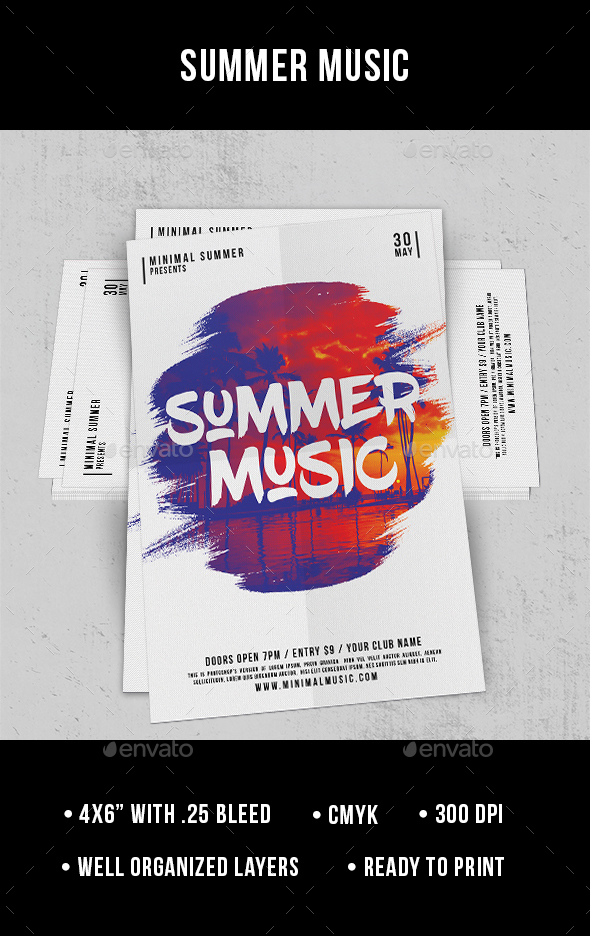 Summer Music - Flyer - Clubs & Parties Events