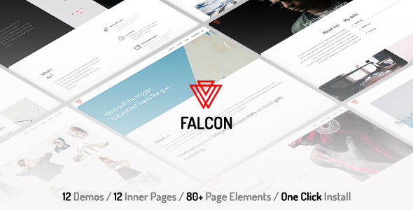 Falcon – Clean & Minimal Multi-Purpose WordPress Theme