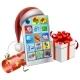 Christmas Phone Illustration