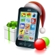Christmas Mobile Phone Illustration