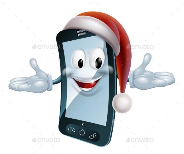 Christmas Mobile Mascot - Christmas Seasons/Holidays