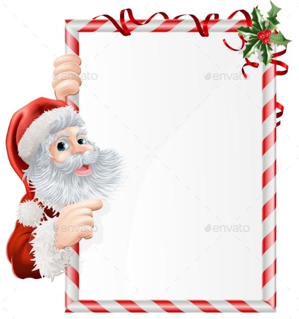 Christmas Santa Sign - Miscellaneous Vectors