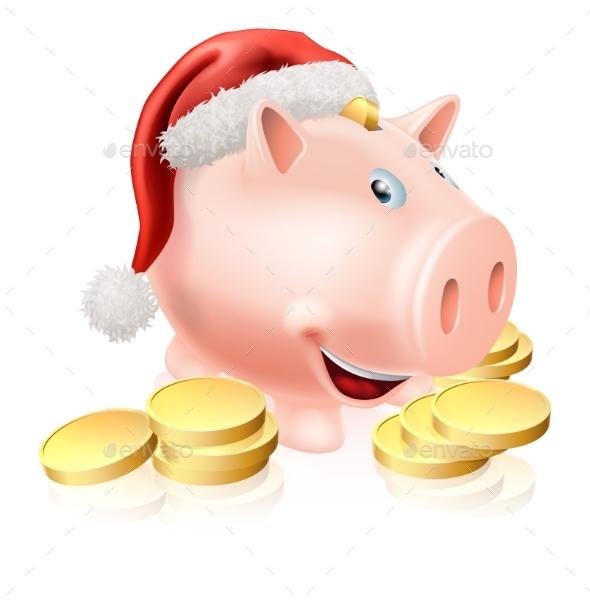 Saving for Christmas Concept - Business Conceptual