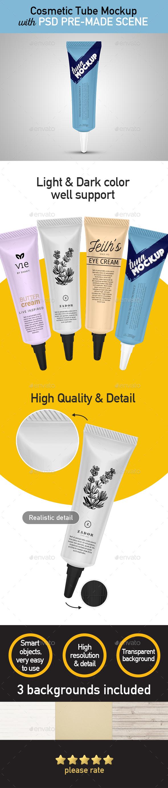 Cosmetic Tube Mockup. - Product Mock-Ups Graphics