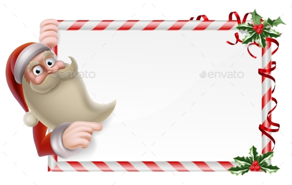 Santa Christmas Sign - Christmas Seasons/Holidays