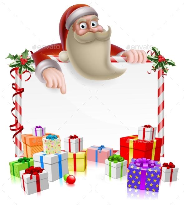 Santa Christmas Banner - Christmas Seasons/Holidays