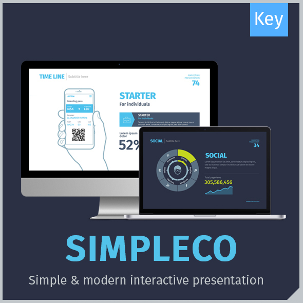 SIMPLECO: Minimalistic Business Keynote Template