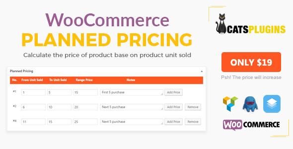 WooCommerce Custom Price by Unit Sold - CodeCanyon Item for Sale