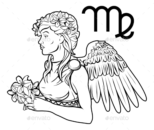 Virgo Zodiac Horoscope Astrology Sign - Miscellaneous Vectors