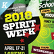 Spirit Week Flyer Templates - GraphicRiver Item for Sale