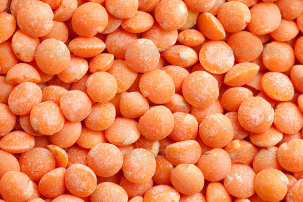 red lentils background - Stock Photo - Images
