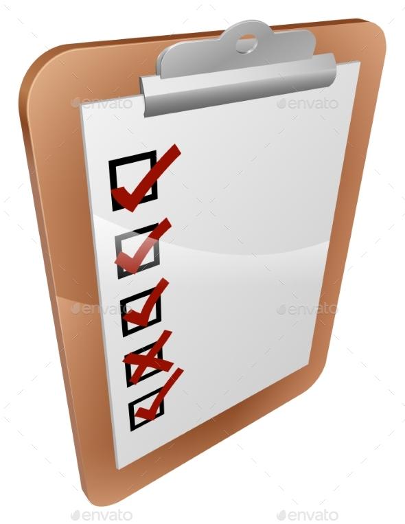 Clipboard Survey Illustration - Miscellaneous Vectors