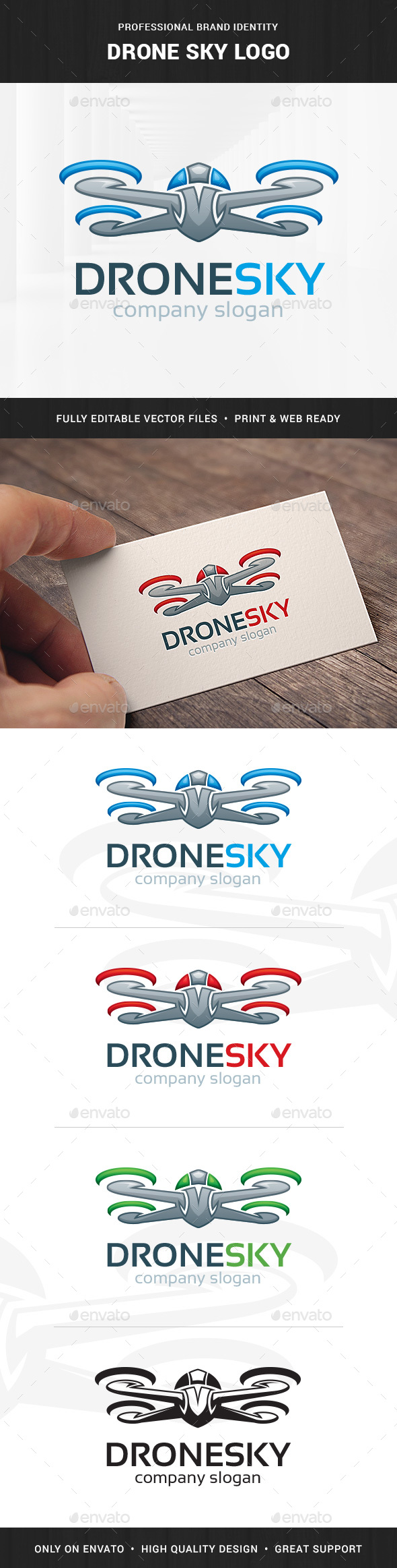 Drone Sky Logo Template - Objects Logo Templates