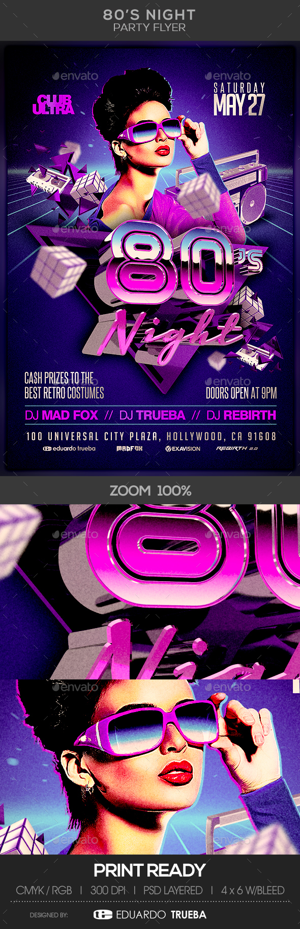 80's Night Party Flyer - Clubs & Parties Events