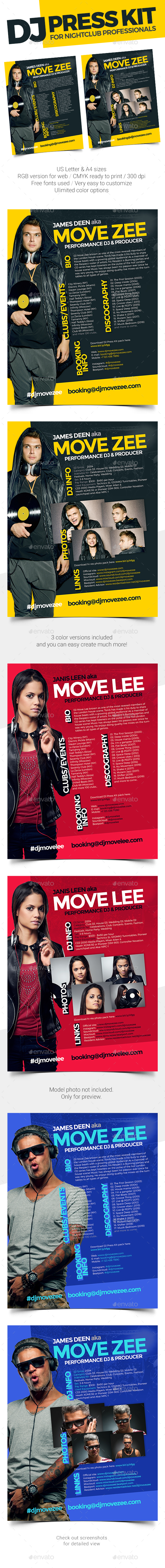 MoveDJ - DJ Press Kit / DJ Resume / DJ Rider PSD Template