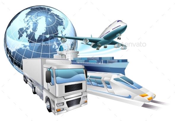 Logistics Transport Globe Concept - Miscellaneous Vectors