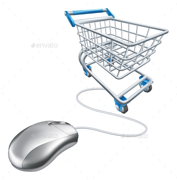 Mouse Shopping Cart - Computers Technology