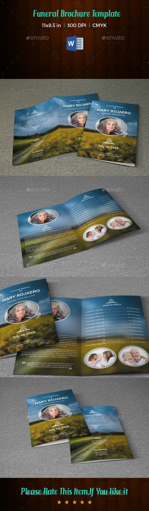 Funeral Program Template-V166 - Informational Brochures