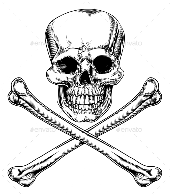 Jolly Roger Skull and Crossbones - Miscellaneous Vectors